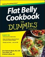 Cover image for Flat belly cookbook for dummies