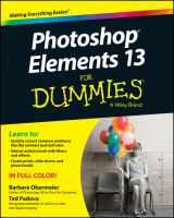 Cover image for Photoshop Elements 13 for dummies