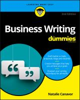 Cover image for Business writing