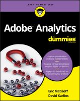Cover image for Adobe analytics for dummies