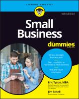 Cover image for Small business for dummies