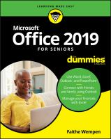 Cover image for Office 2019 for seniors for dummies