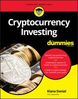 Cover image for Cryptocurrency investing for dummies