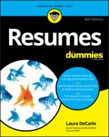 Cover image for Resumes for dummies