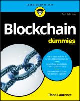 Cover image for Blockchain for dummies