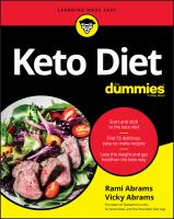 Cover image for Keto diet for dummies