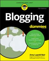 Cover image for Blogging for dummies