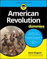 Cover image for American Revolution for dummies