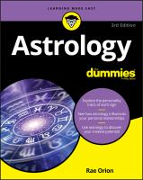 Cover image for Astrology for dummies