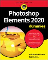 Cover image for Photoshop Elements 2020 for dummies