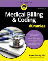 Cover image for Medical billing & coding for dummies