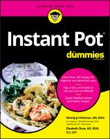 Cover image for Instant Pot cookbook for dummies