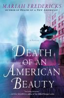 Cover image for Death of an American beauty : a novel