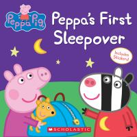 Cover image for Peppa's first sleepover.