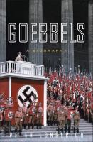 Cover image for Goebbels : a biography