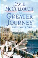 Cover image for The greater journey : Americans in Paris
