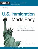 Cover image for U.S. immigration made easy