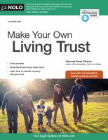 Cover image for Make your own living trust