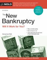 Cover image for The new bankruptcy : will it work for you?