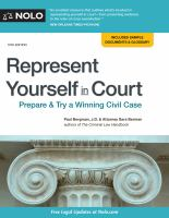 Cover image for Represent yourself in court : prepare & try a winning case