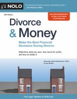 Cover image for Divorce & money : make the best financial decisions during divorce