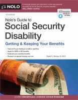 Cover image for Nolo's guide to social security disability : getting & keeping your benefits
