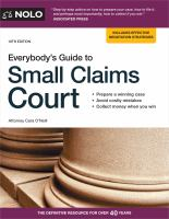 Cover image for Everybody's guide to small claims court