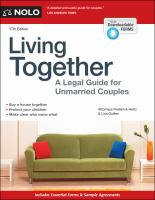 Cover image for Living together : a legal guide for unmarried couples