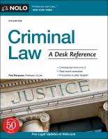 Cover image for Criminal law : a desk reference
