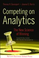 Cover image for Competing on analytics : the new science of winning