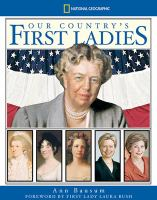 Cover image for Our country's first ladies