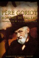 Cover image for Père Goriot