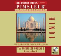 Cover image for Pimsleur language programs. Hindi I A the complete course.