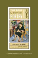 Cover image for The best American poetry, 2012