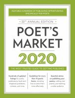 Cover image for Poet's Market 2020