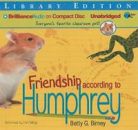 Cover image for Friendship according to Humphrey