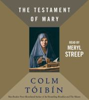 Cover image for The testament of Mary
