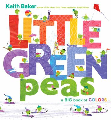Cover image for Little green peas : a big book of colors
