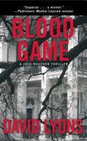 Cover image for Blood game : a Jock Boucher thriller