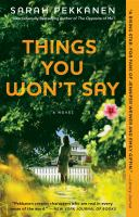 Cover image for Things you won't say : a novel