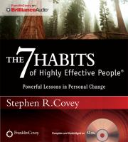 Cover image for The 7 habits of highly effective people powerful lessons in personal change