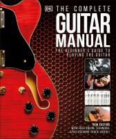 Cover image for The Complete guitar manual : the beginner's guide to playing the guitar.