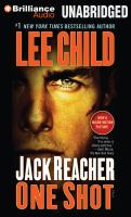 Cover image for Jack Reacher. One shot