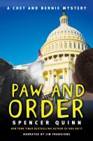 Cover image for Paw and order : a Chet and Bernie mystery