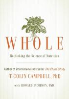 Cover image for Whole : rethinking the science of nutrition