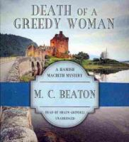 Cover image for Death of a greedy woman