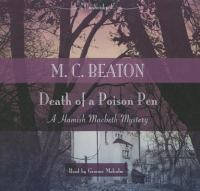 Cover image for Death of a poison pen : a Hamish Macbeth mystery