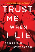 Cover image for Trust me when I lie : a novel
