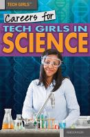 Cover image for Careers for tech girls in science