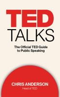 Cover image for TED talks : the official TED guide to public speaking